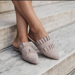 Sole Society Pollina ruffle slide flat loafer